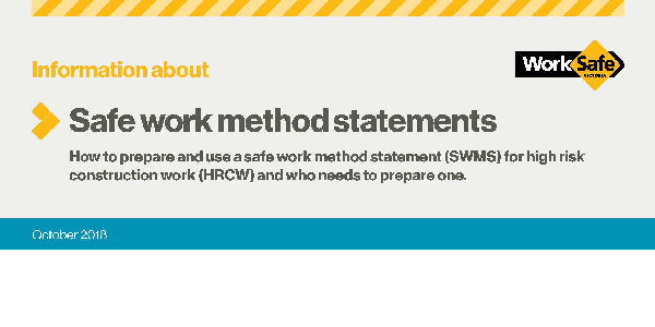 Safe Work Method Statements